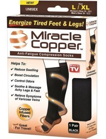 Miracle Copper Medias De Compresión Anti-fatiga Unisex