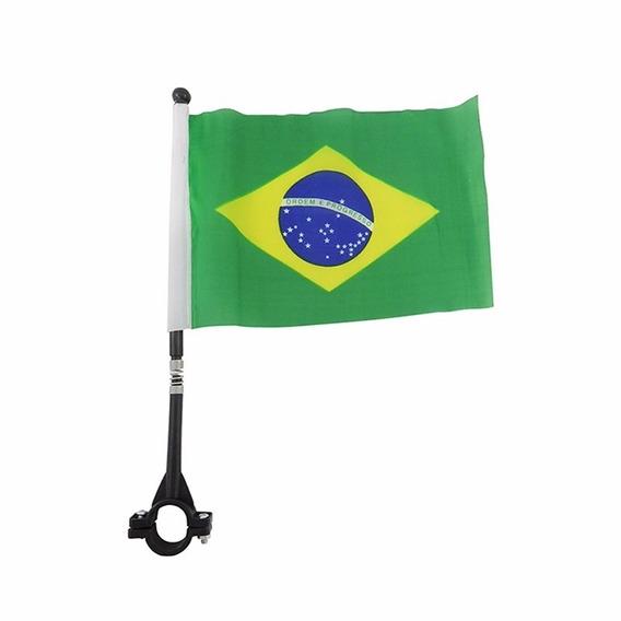 Bandeira Do Brasil Para Moto Haste Bicicleta Torcedor 2018