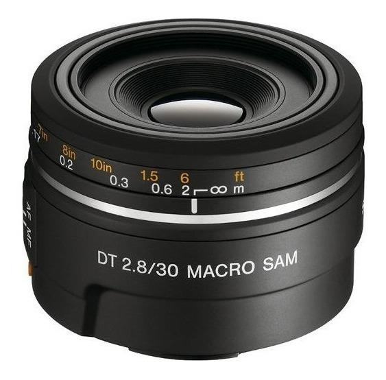 Lente Sony A-mount Dt 30mm F/2.8 Macro Sam