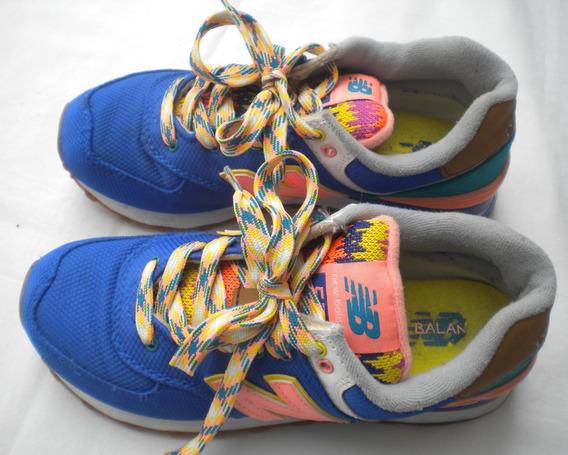 Zapatillas New Balance Wl574exa Dama T 35 Ar Originales