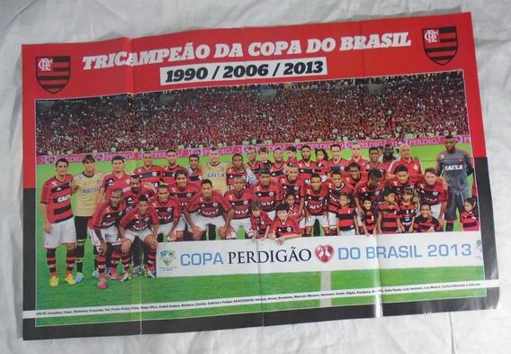Flamengo Pôster Futebol Tricampeonato
