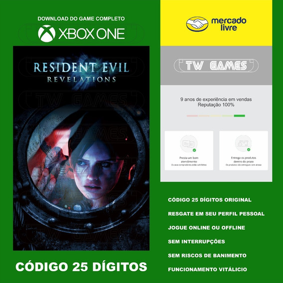 Resident Evil Revelations Codigo 25 Digitos Xbox One Fat S X