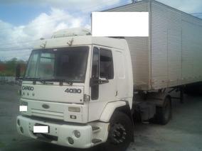 Cavalo Ford Cargo 4030 Toco 4x2 2001 Conjunto Com Baú De 15m