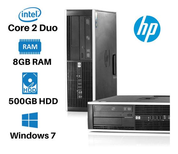 Pc Hp Sff Core 2 Duo 8gb 500gb Win7 + Office
