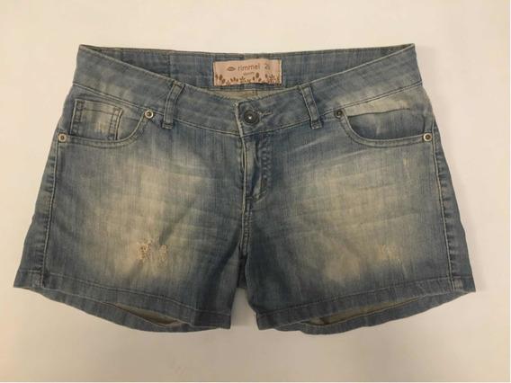 Short Jean Rimmel Talle 26 Pantalón Corto Bolsillos