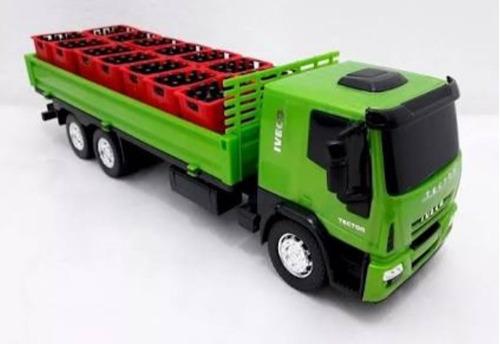Imagem 1 de 3 de Brinquedo Caminhão Iveco Tector Delivery Bebidas Usual