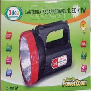 Lanterna Recarregável 1 Led +1w