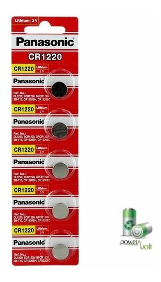 Bateria Panasonic Cr1220 Lithium 3v   Cartela C/05 Pilha
