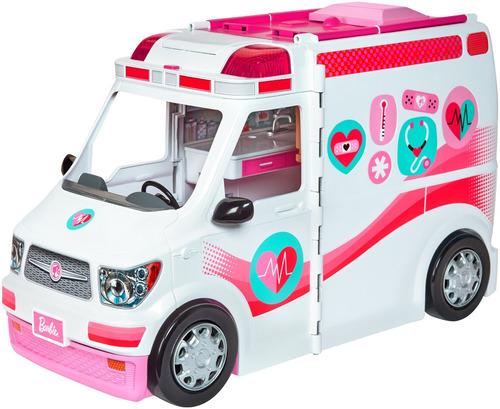 Barbie Ambulancia Y Hospital 2 En 1 Luces Y Sonidos Frm19