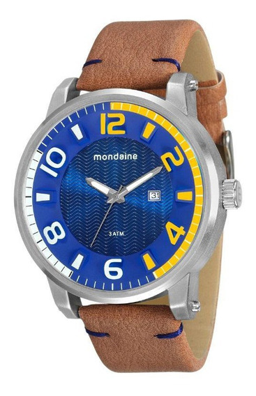 Relógio Masc. Couro Sintético Mondaine 76631g0mvnh1 Vltrine