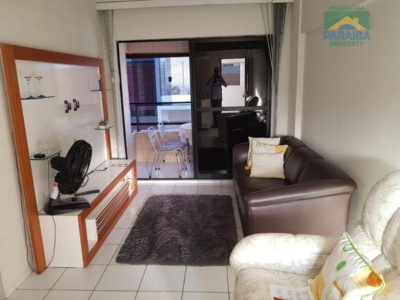 Apartamento Mobiliado Para Locação - Praia Do Cabo Branco - João Pessoa - Pb - Ap1326