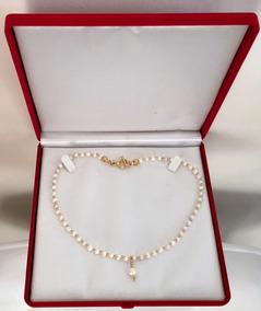181ed5cef85f Precioso Collar Perla Natural Oro 14 K - Joyería en Mercado Libre México