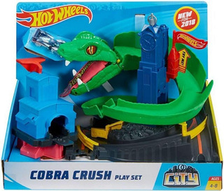 Pistas Hotwheel City Ataque De Cobra Pista Carros Hot Wheels