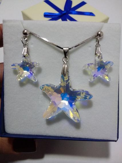 Namorados Conjunto Estrela Do Mar Boreal Cristal Swarovski