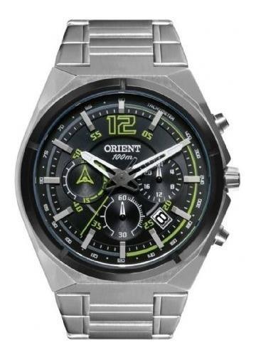 Relógio Orient Masculino Prata Cronógrafo Com Calendário