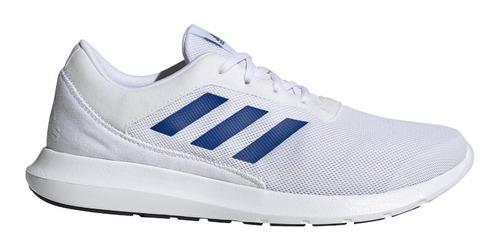 Imagen 1 de 10 de Tenis adidas Coreracer Hombre Blanco Rayas Azules