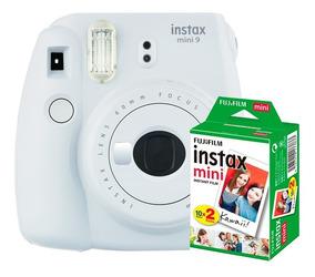 Câmera Instantânea Instax Fujifilm Mini 9 Branco + Filme 20