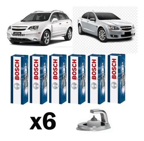 Jogo Vela Ignição Bosch Platinum Gm Captiva E Omega 3.6 V6