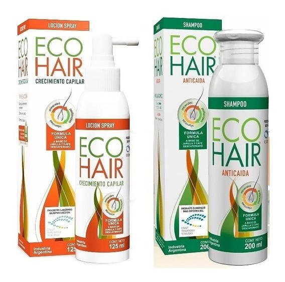 1 Eco-hair Shampoo + 1 Locion Combo Tratamiento Anti Caida