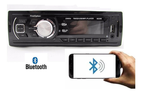 Som Automotivo Radio Fm Mp3 Bluetooth Usb Sd 4rca First