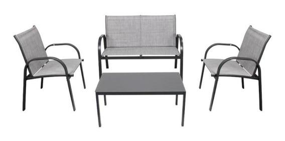 Conjunto Para Jardim 4 Peças Cadeiras E Mesa Centro Belfix