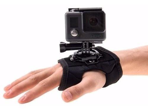 Gopro Luva Suporte Alça 360° Mão Pulso Go Pro Hero 3+ 4 5 Hd