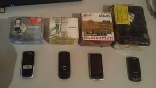Celular Nokia 2630 1661 LG Gm600 J700 Kit Lote Com 4 Defeito