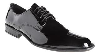 Zapatos Hombre Con Cinto Charol Moda Eco Cuero Cruelty Free