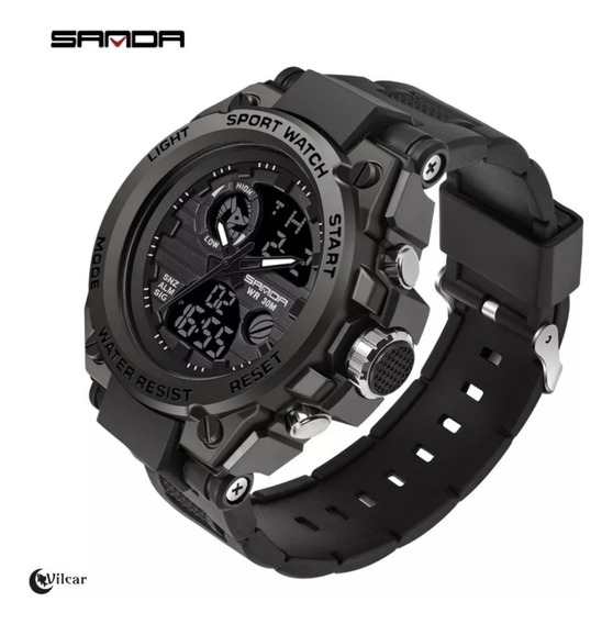Relógio Masculino Sanda Esportivo Militar Original! - Preto