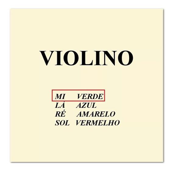 Kit Jogo Corda Avulsa Violino Mauro Calixto 3 Mi + 3 Lá