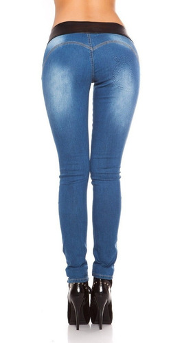 Koucla Jeans Sexys  Skinny Jeans Hose Con Look Cuero