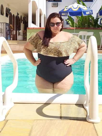 Body Maiô Plus Size Ciganinha 46 Ao 52 Bori Babado Body