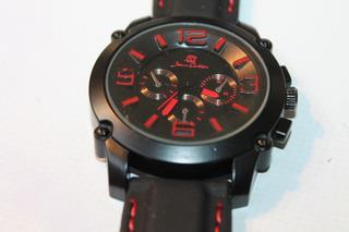 Reloj Jean Cartier Hombre Cuarzo Con Malla Silicona Cristal