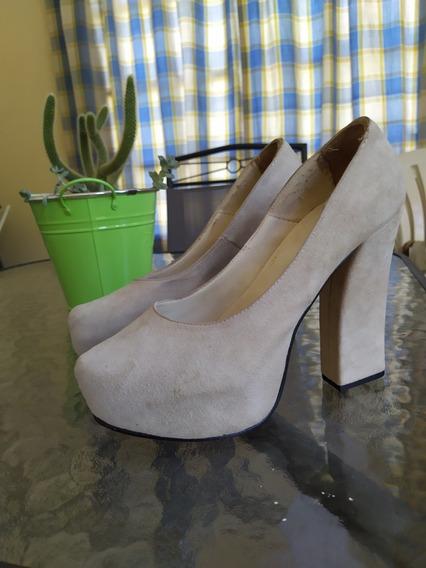 Zapatos Color Natural Sin Uso.