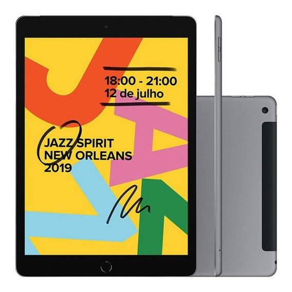 iPad 7 Apple 4g 32gb Ipados A10 Fusion Câmera 8mp