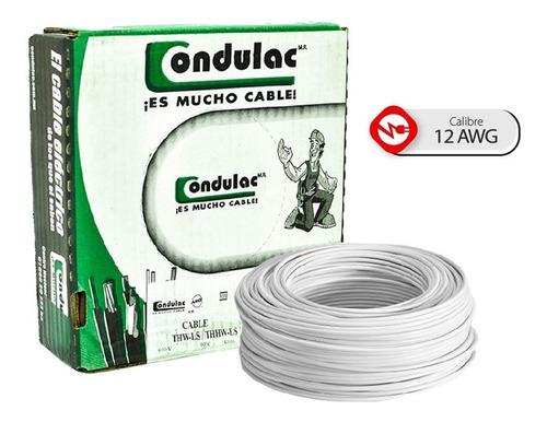 Imagen 1 de 7 de Caja 100 Mts Cable Negro Thw Cal 12 Awg 100%cobre Condulac