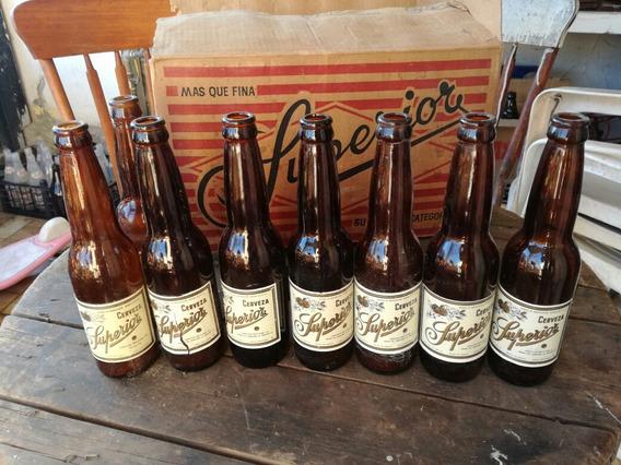 Lote De 3 Botellas Antiguas Cerveza Superior Envio Incluido
