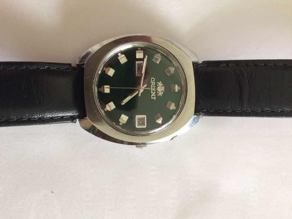 Relógio Orient Automático Fundo Verde Antigo