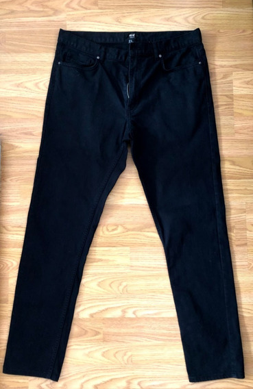 Jean Hym Hombre Skinny Negro Usado Impec. T33 Eur/us