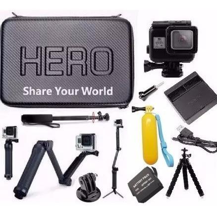 Bateria Estanque Preta 3 Way Kit P Gopro Hero 5 Hero 6