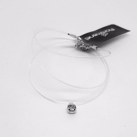 Colar Ponto De Luz Cordão De Silicone Invisível 130160 42 Cm