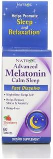 Natroladvanced Melatonin, Calm Sleep, Fast Dissolve Tablets,