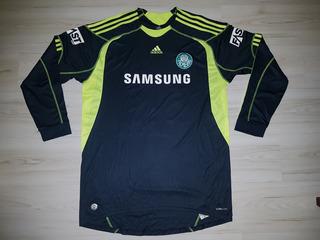 Linda Camisa De Goleiro Do Palmeiras 2009 adidas #12 Samsung