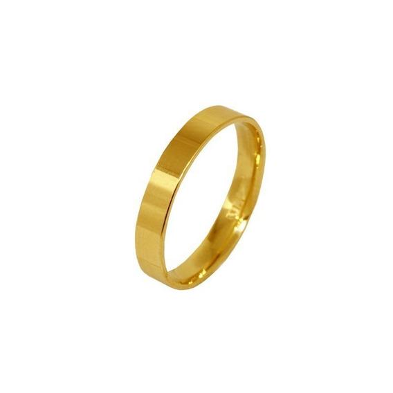 Aliança Casamento Ouro Amarelo 18k - 3,5mm - Cod 3593