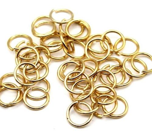 2000 Argolas Douradas Em Alumínio Montagem De Lustres 09mm