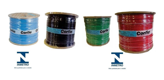 Fio Cabo Flexível 750v 2,5mm Corfio T/cores Rolo 100 Metros