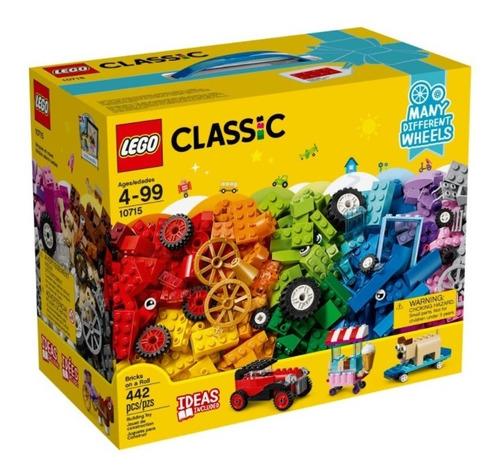 Imagem 1 de 10 de 10715 Caixa Lego Classic Engrenagens E Rodas 442 Peças