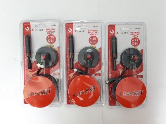 Kit Com 03 Und De Antena Digital Hdtv - Alta Qualidade