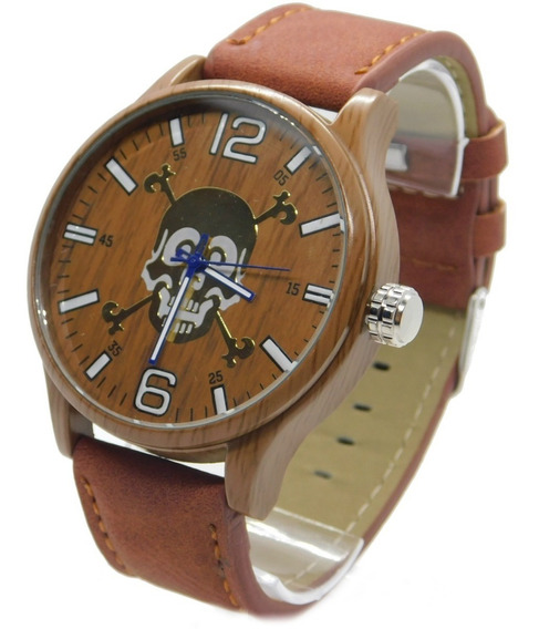 Relógio Masculino Barato De Caveira Unissex Luxo Analógico