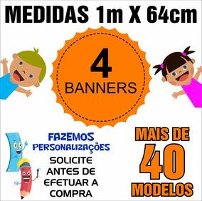 Banner Auxílio Pedagógico 1m X 64cm - 4 Unids - Cód: Ywz04